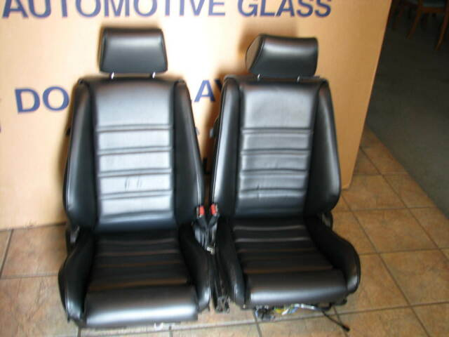 BMW E24 635CSI SPORT SEAT KIT BLACK VINYL UPHOLSTERY KITS NEW