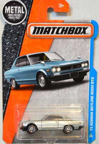 Matchbox 2016 Metall Teile Piezas /'71 Nissan Skyline 2000 GTX