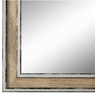 NEU Spiegel Wandspiegel Flur Bad Retro Vintage Holz Lugnano Weiss
