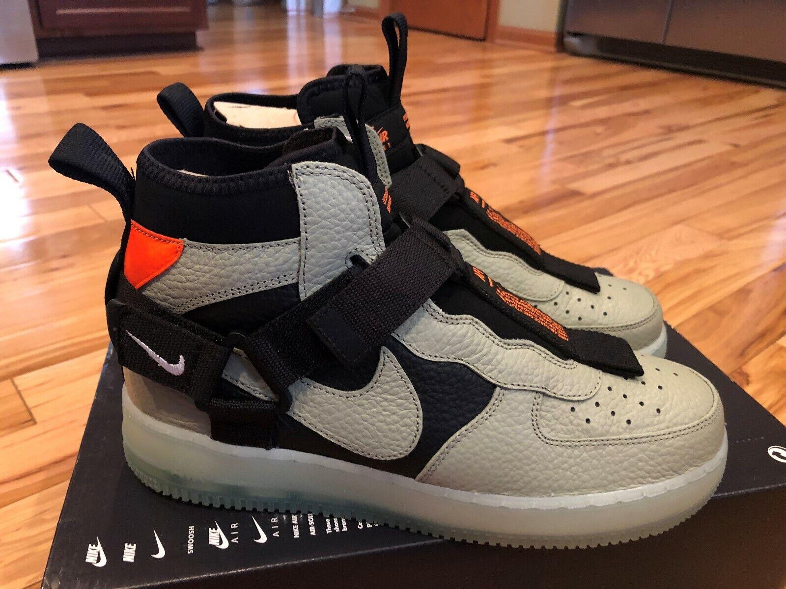 Nike Air Force 1 Utility Mid Spruce Fog nero  AQ9758 300 Men's Dimensione 7.5  marchi di moda