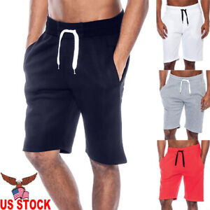 Men-039-s-Summer-Casual-Workout-Tech-Fleece-Shorts-Baggy-Sport-Jogger-Beach-Pants