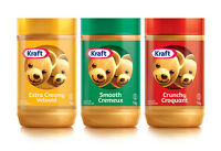 Canada Kraft Peanut Butter - 500g/750g/1kg - 10 Flavours