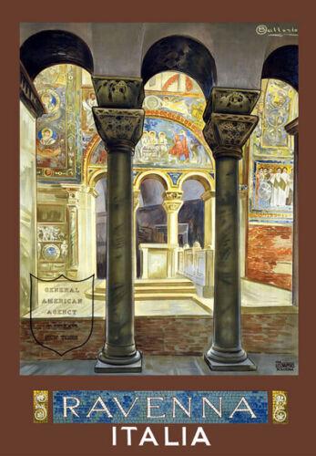 Tu16 Vintage Ravenna Italia Italiana viajar cartel impresión a3//a2