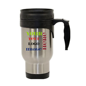 Image Is Loading Personalized Travel Mug Custom Photo Text Logo Name