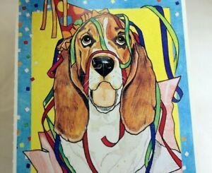 Details about Lets Party Postcard Animal Shelter North Shore League Dog  Basset Hound 1980'