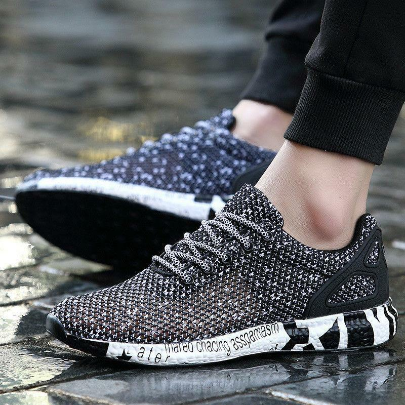 Fashion Men's Light Hollow Mesh Running Sneakers Casual Sports shoes Breathable