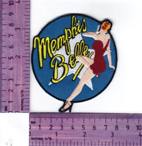 Cloth Patch Memphis Belle Nose Art Classic Image  Embroidered Badge