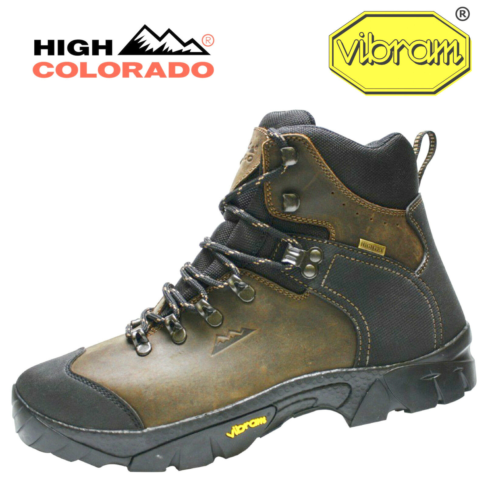 High Colorado eiger High Tex Vibram Leather Men 's Walker
