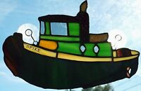 Spike The Tugboat In Stained Glass