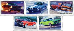 US-4743-4747-Muscle-Cars-forever-set-MNH-2013