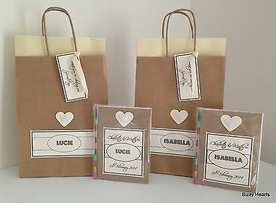 Personalised Childrens VINTAGE STYLE Activity Pack & Gift Bag Wedding Party HRT