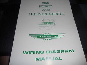 1956 Ford Car Line Wiring Diagram Manual | eBay