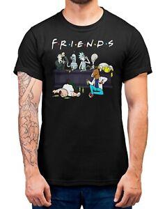 Cartoon-Sitcoms-Friends-T-Shirt-Adults-Sizes-Black-100-Cotton-Shirt-Tee