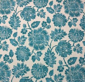 Image Is Loading Ethan Allen Amara Turquoise Blue Fl Toile Furniture