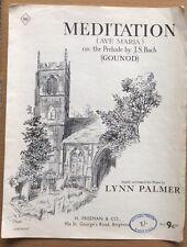J S Bach Meditation - Ava Maria Arranged by Lynn Palmer UK Sheet Music