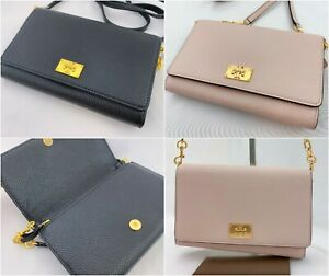 NWT-TORY-BURCH-WOMEN-039-S-EVE-CHAIN-LEATHER-SMALL-WALLET-CROSSBODY-BAG