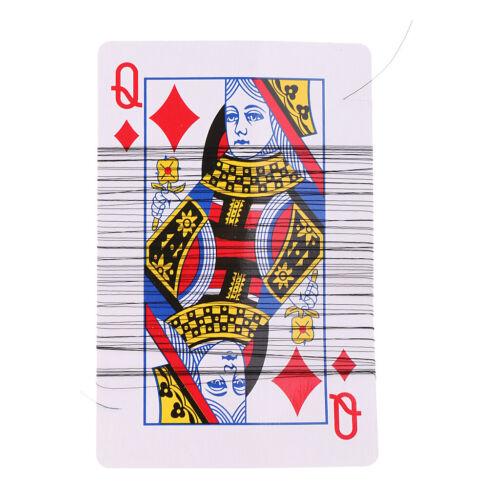 Flying Seiden Tuch und Pokerkarte Zaubertricks Zauber Straße Bühne Magic