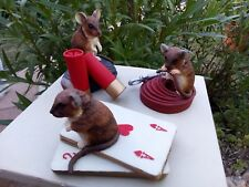 Lot de 3 Souris - Lot of 3 Mice STATUETTE DE TEVIOTDALE  ECOSSE