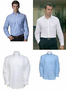 MENS KUSTOM KIT KK105 EASY IRON WORK OFFICE BUSINESS FORMAL LONG SLEEVE SHIRT