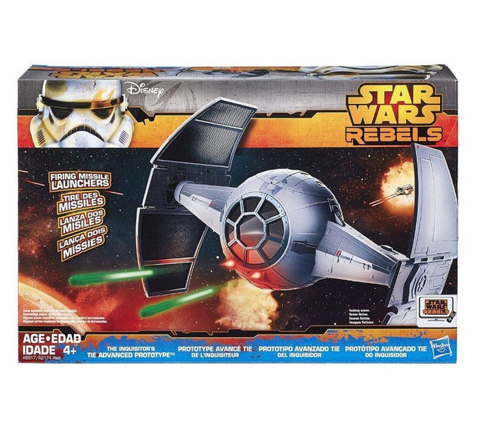 STAR WARS Rebels INQUISITOR'S TIE FIGHTER toy vehicle for 4  action figures