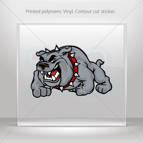 Stickers Decal Bulldog Angry Guard 11305 Car Atv Bike Garage st5 XX3RS