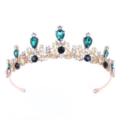 Six Color Bridal Rhinestone Cute Pageant Hair Tiara Veil Headband Prom Crown