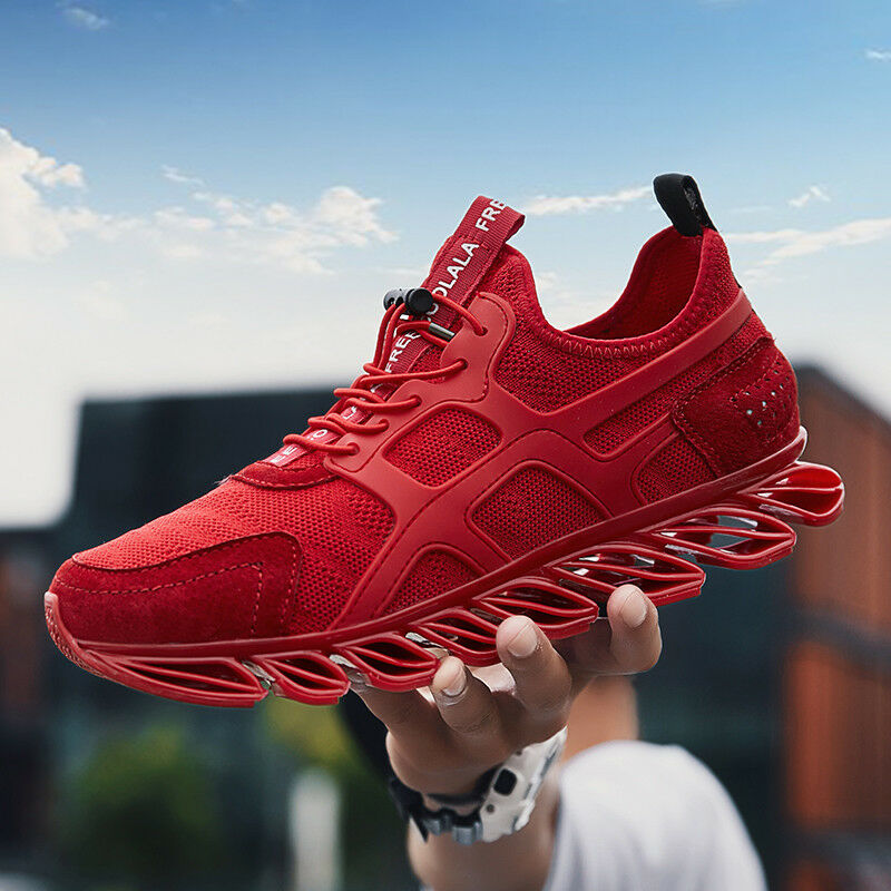 Elastic Men Running shoes Sneakers Fashion Outdoor Breathable Sports Athletic