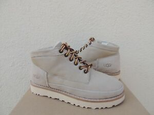 aa7c1935c6f Details about UGG WHITE CALI MOC TRAIL CAMPFIRE SHEEPSKIN BOOTS, WOMEN US  7/ EUR 38 ~NEW