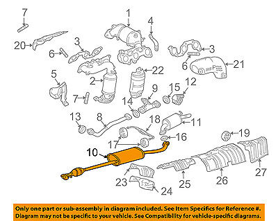 EXHAUST PIPE NO.4 17566-67030 1756667030 Genuine Toyota SUPPORT