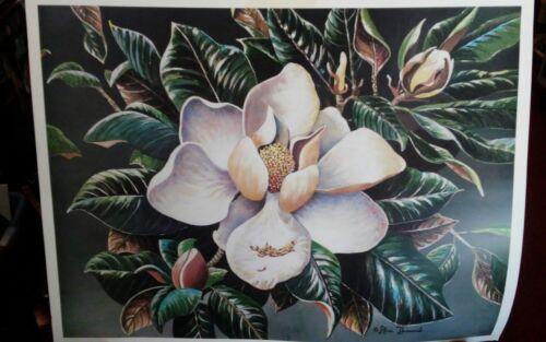 "Unframed AliceThurmond /""MAGNOLIA/"" Print Mississippi Artist."