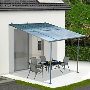 ... 3-x-3m-Wall-Mounted-Canopy-Outdoor-Awning- & 3 x 3m Wall Mounted Canopy Outdoor Awning Aluminuim Sun Shade ...