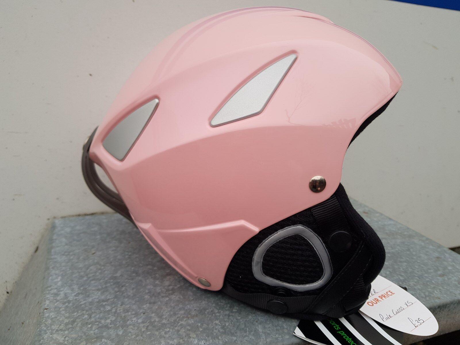 Manbi. Ski helmet. Flyer. Junior. Small 55 56cm. Pink gloss