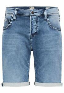 Mustang Herren Jeans Short Chicago Blau Light Blue Mid Blue Dark Blue