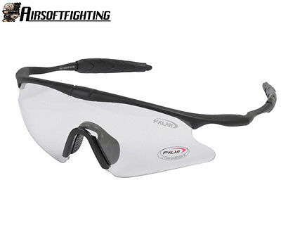 Airsoft Tactical Sporty UV400 Protection Police Shooting Glasses Goggle Clear