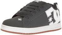 DC Court Graffik Grey Gum Leather Mens Skate Trainers Shoes