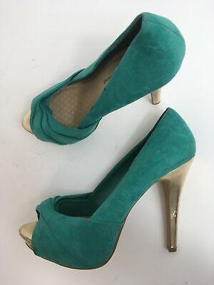 green suede sandals uk
