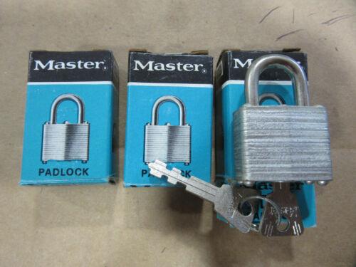 Master Lock 10KA Laminated Steel Keyed Padlocks with 2 Keys L-37 NEW!!! 3