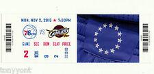 LeBron James 25,000 Career Points 11/2/15 Unused Ticket Cavs vs 76ers MINT RARE!