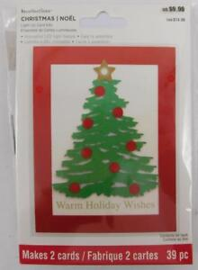 Recollections-Light-up-Card-Kit-Warm-Holiday-Wishes-Christmas-Tree-New-2-Cards