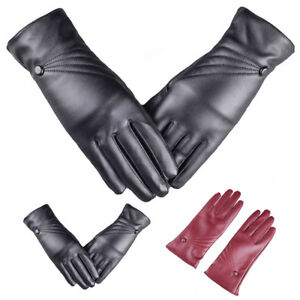 Women-039-s-PU-Leather-Winter-Warm-Driving-Soft-Lining-Thermal-Gloves-Touch-Screen