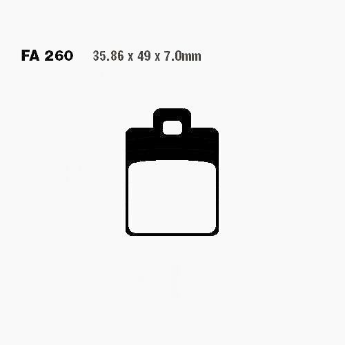 BREMSBEL/ÄCHER SCO SFA260 Vespa ET2 50 C12000
