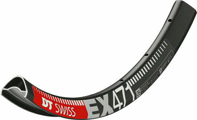 New DT Swiss EX 471 26 Tubeless-Ready Disc Rim 28h Black inc Squorx Nipples