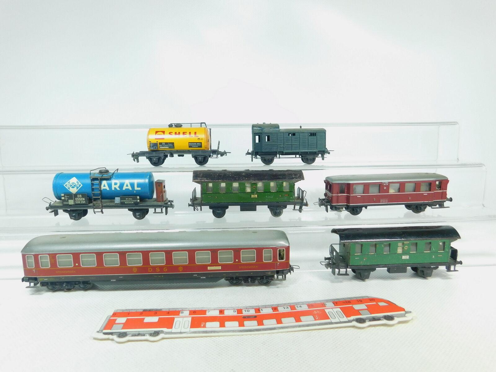 BM520-1  7x Trix Express H0 DC Personenwagen etc  DSG+Shell Aral DB etc, 2. Wahl