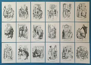 NEW-Set-of-18-A6-Postcards-Illustrations-from-Pride-and-Prejudice-Jane-Austen