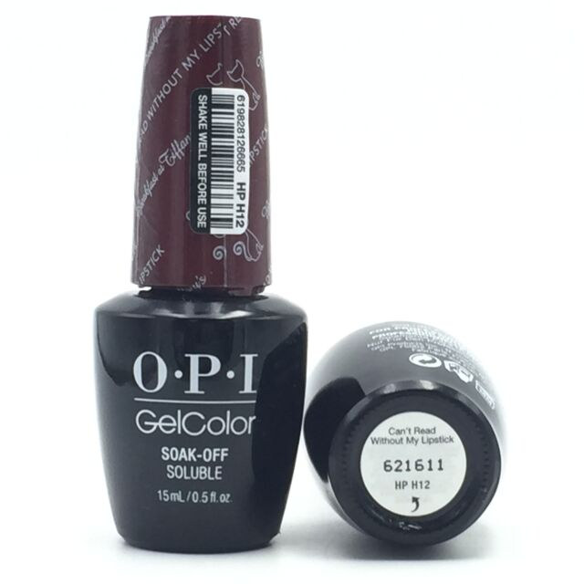 OPI GEL Color Nail Polish Soak off Gelcolor Can\'t Read Without My ...