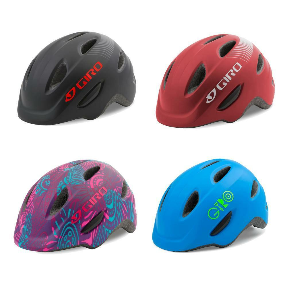 Giro Scamp Youth Junior Bike Bicycle Safety Helmet 8 Vents With Visor 4 Colours