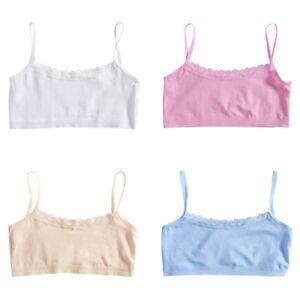 88cbf513b59b5 Young Girls Lace Bra Puberty Teenage Soft Cotton Underwear Training ...