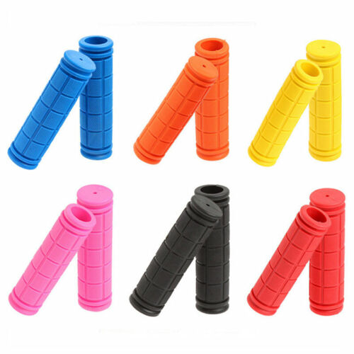 1 Pair Soft Rubber Handlebar End Grips For Bicycle MTB BMX Road Mountain Bike