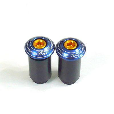 gobike88 XON XSS-22 HandleBar End Caps/Plugs, for ROAD/MTB, Blue, H17