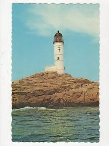Isles-Of-Shoals-Lighthouse-White-Island-Mass-Old-Postcard-USA-403a